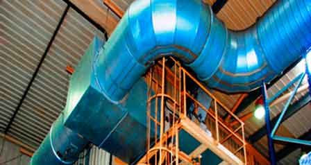industrial warm air heating for factories