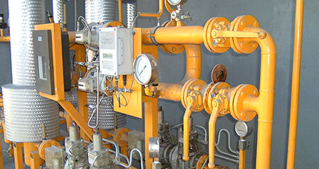 RMS means regulating and metering stations for gas pressure